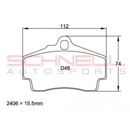 Brake Pad Set - Rear - Pagid RS 29 (Yellow) - 996/997/986/987/981