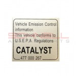 Catalytic Converter Decal