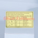 Engine Oil Level Decal