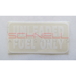 Decal-Unleaded Fuel