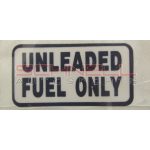 Decal Unleaded Fuel