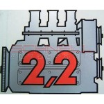 """2.2"" Rear Window Engine Decal"