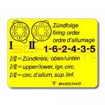 Firing Order Decal for 964, 993 (89-98)