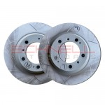 Disc Brake Rotors - Rear 986 Boxster Base (Set of 2 Sebro Slotted)
