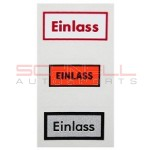 Einlass Oil Filter Decal Set
