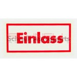 Einlass Oil Filter Decal, H-Filter
