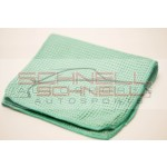 Microfiber Towel - 270 GSM Waffle Weave Green (Glass Cleaning)
