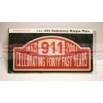 911 40th Anniversary Marque Plate