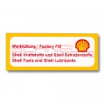 Shell Fuel and Shell Lubricants Decal